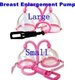 Wholesale Pump Cups - Adult Games Plastic Manual Vacuum Suction Breast Enlarger Enhancer Pump Dual Cup Bust Breast Enlargement Gear