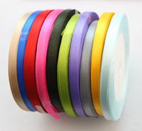 Wholesale Ribbon 6mm - 10 Rolls of Mixed Colours 6mm Craft Scrapbooking Satin Ribbon #22763