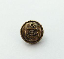 2019 llavero redondo de acrílico al por mayor Botón de ancla de acrílico bronce envejecido 30PCS abalorios 21.5mm # 22769