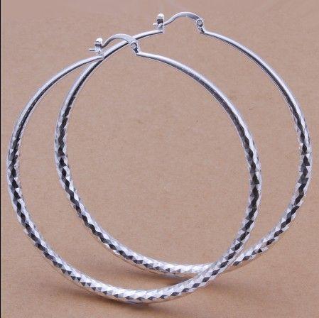 I monili classici delle donne di modo degli orecchini del cerchio del diametro 7.5CM di alta qualità 925 di prezzi superiori di fabbrica liberano il trasporto /