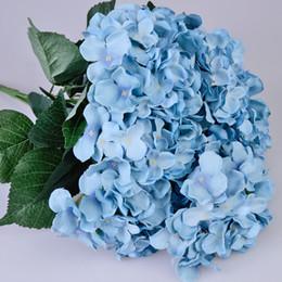 Discount one piece displays - One Piece (7 stems bunch) 51CM Long European Style Silk Artificial Hydrangea Flower Fake Flower Bush For Wedding Bouquet