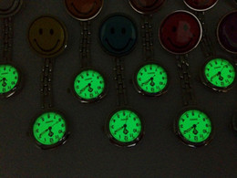 Wholesale Nurse Watch Green - Free shipping nurse watches luminous watches smile luminous watch noctilucent watches iron watches Smiling face DHL free shipping