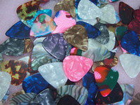 Wholesale Guitar Picks Mix - Free shipping Wholesale high-grade celluloid guitar picks thickness of 0.46-0.96mm the mixing thickness of 100pcs lots