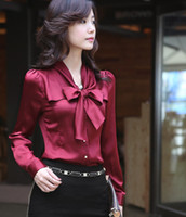 Wholesale Ladies Shirt Button Design - ladies office clothes, formal shirts design, fashion business working shirt, women long sleeve office blouse shirt