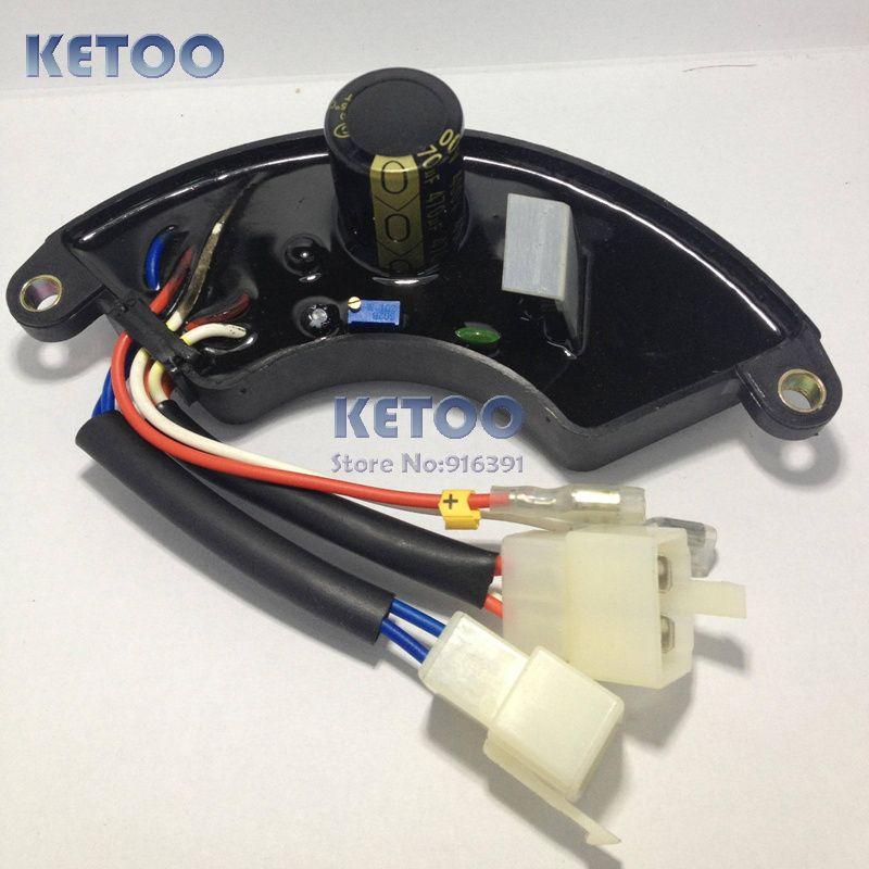LiHUA 5-7KW AVR Para Gerador De Gasolina, 5.5kw-7kw Shell Trifásico Plástico AVR Transporte rápido
