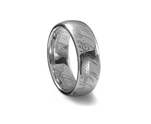 Tungsten Carbide Lord Of The Rings Men Wedding Band Ring Tungsten ...