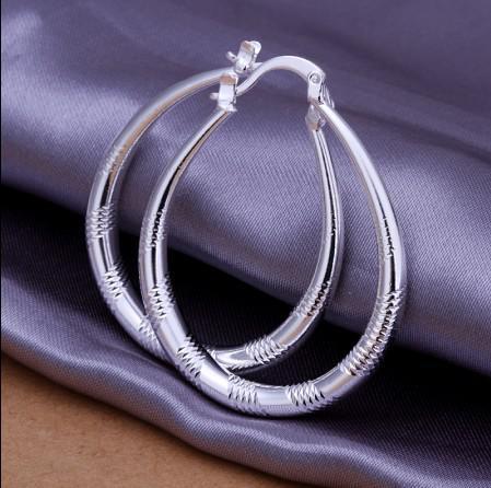 Fabriek prijs topkwaliteit 925 zilveren mode hoepel oorbellen best-selling klassieke sieraden voor vrouwen gratis verzending /