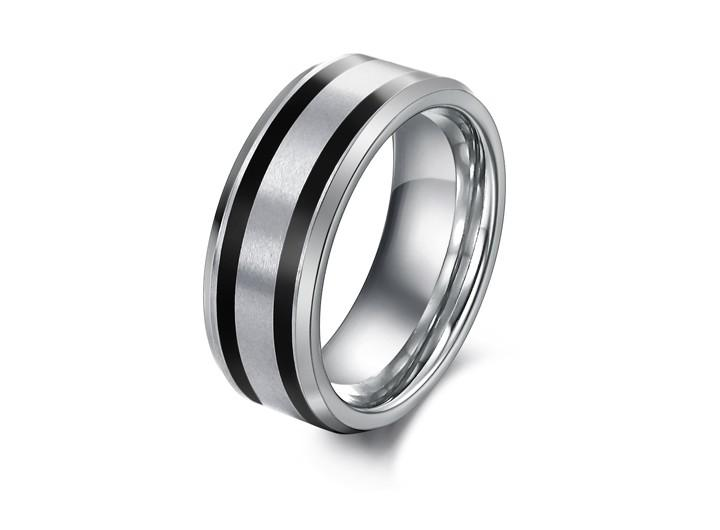 New Fashion Mens Pure Tungsten Carbide Ring Mens Wedding Band Size