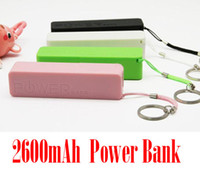 Wholesale External Battery Fragrance - Portable Mini Power Bank 2600Mah External Battery Charger Perfume Fragrance Batteries Charger for iphone with Heychain