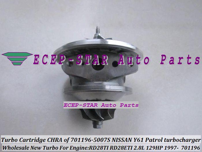Турбо chra картридж GT1752S 701196 701196-0007 701196-0002 701196-0006 701196-0001 14411-VB301 - RD28TI 2.8 для Nissan Y61 Патрол сафари 97 л
