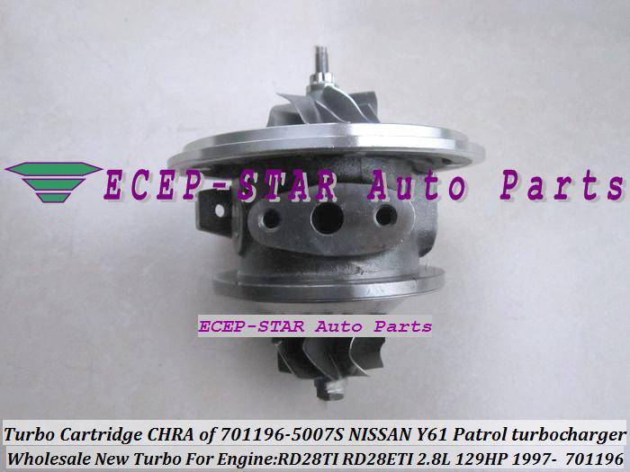 Cartucho TURBO CHRA GT1752S 701196 701196-0007 701196-0002 701196-0006 701196-0001 14411-VB301 para Nissan Y61 Patrol Safari 97- RD28TI 2.8L