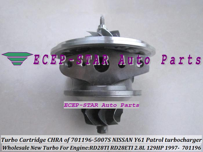 TURBO Kartuş CHRA GT1752S 701196 701196-0007 701196-0002 701196-0006 701196-0001 14411-VB301 Nissan Y61 Patrol Safari 97- RD28TI 2.8L için