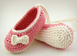 Wholesale Ballet Flats Toddlers - 15%off! Pink Baby Shoes or Baby Booties, Ballet Flats with White Bows, baby sandals 6 to 12 months,toddler shoes 3pairs 6pcs