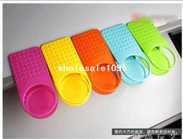 Wholesale Office Desk Free - Free Shipping New Arrival Office Table Desk Drink Coffee cup Holder Clip Drinklip 5pcs lot (Random Colors)