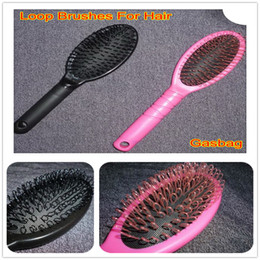 Wholesale Hair Extensions Loop Brush - Retail Pink&Black Loop Brushes Comb Pair For Hot Human Hair Extension Optional Free Shipping 2pcs