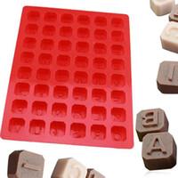 ingrosso sapone muffe natale-Muffa del cubo di Candy della gelatina del cioccolato di Natale della muffa della lettera di alfabeto del silicone