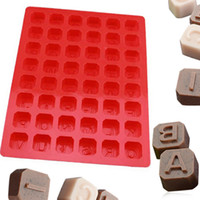 Wholesale alphabet silicone mould - Silicone Alphabet Letter Soap Mold Christmas Chocolate Jelly Candy Cube Mould