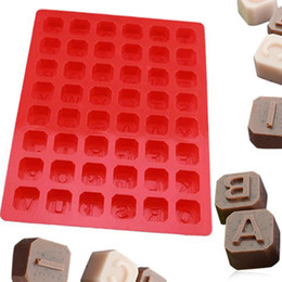 Wholesale Cube Letters Alphabet - Silicone Alphabet Letter Soap Mold Christmas Chocolate Jelly Candy Cube Mould