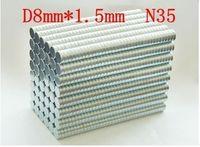 ingrosso magnete super potente n35-magnete super potente N35 NdFeB Magneti permanenti al neodimio 8 * 1.5mm
