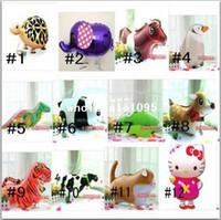 mascotas globos al por mayor-¡Nuevo! Diversos globos del animal doméstico / decoración del partido que caminan / globo del día de fiesta / regalo de los niños, 20pcs / lot
