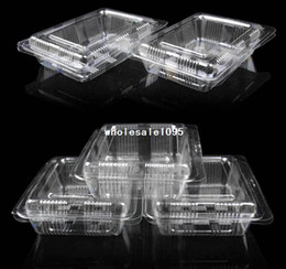 Wholesale Single Plastic Cupcake Holders - Wholesale 100PCS LOT Plastic Single Individual Cupcake lunch box Muffin Holders Cases Boxes Cups Pod