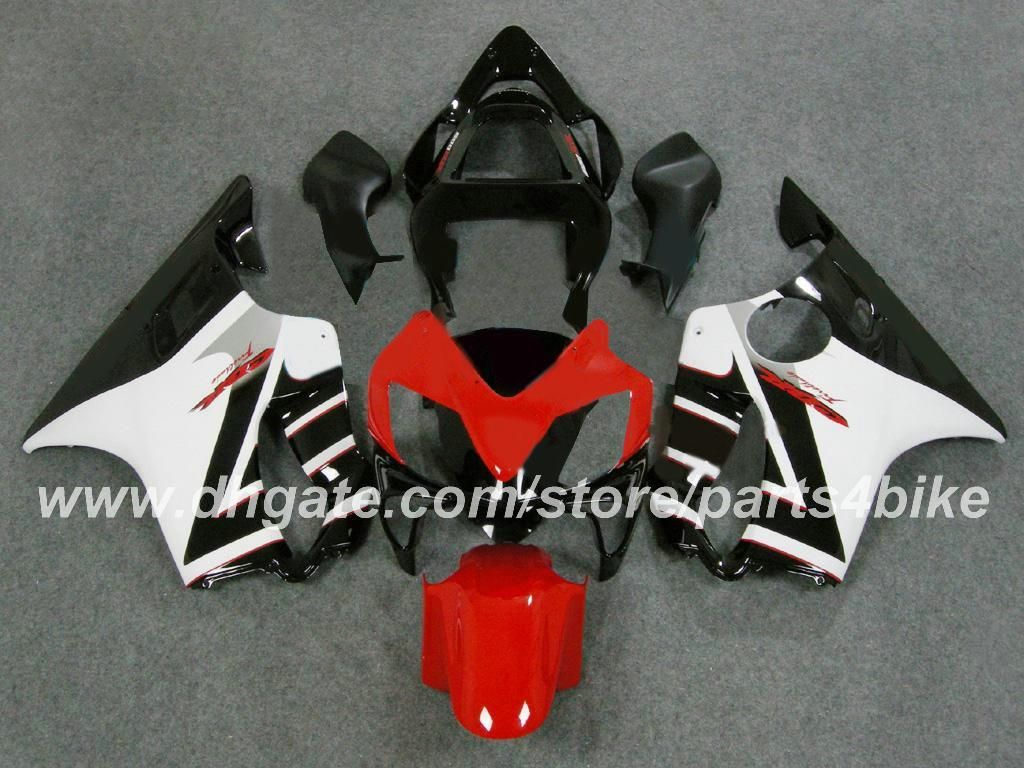 Motorcycle fairings Injection molded for Honda CBR600 F4i 04 05 06 07 CBR600 2004 2005 2006 2007 fairing set red white black RX1A