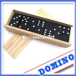 Wholesale Domino Game Toys - 28pcs set Game Play Set Domino adult boy baby intelligence Count toy wooden toys