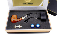 Wholesale Electronic Cigarette Free Shiping - Old-fashioned Pipe Electronic Cigarette Kit E-pipe 618 Wooden body Sax Shaped atomizer free shiping