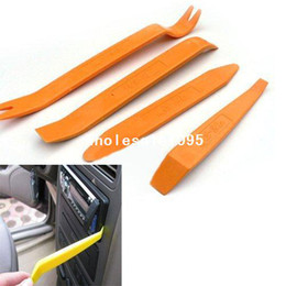 Wholesale Door Trim Panel Clips - 4pcs set Auto Car Radio Door Clip Panel Trim Dash Audio Removal Installer Pry Tool