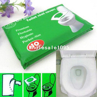 Wholesale Disposable Seat - 5 Packs 50Pcs lot Disposable Paper Toilet Seat Covers Camping Festival Travel Loo