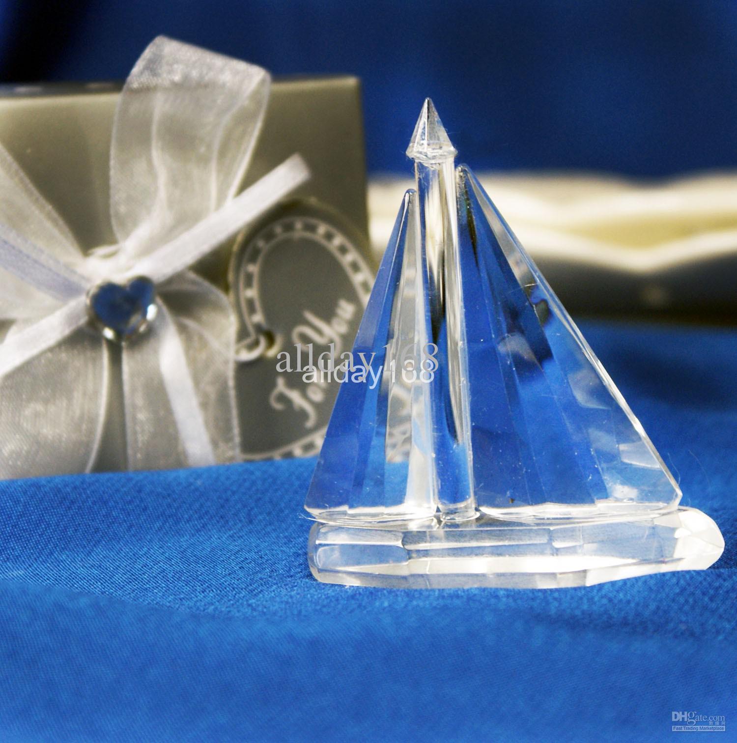 unique wedding favors crystal sailing boat wedding decoration of crystal gift of crystal sailing. Black Bedroom Furniture Sets. Home Design Ideas
