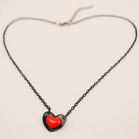 Wholesale Bohemian Earrings Shop - N026 One shop Jewelry Double D love necklace short section of double love peach heart necklace sweat