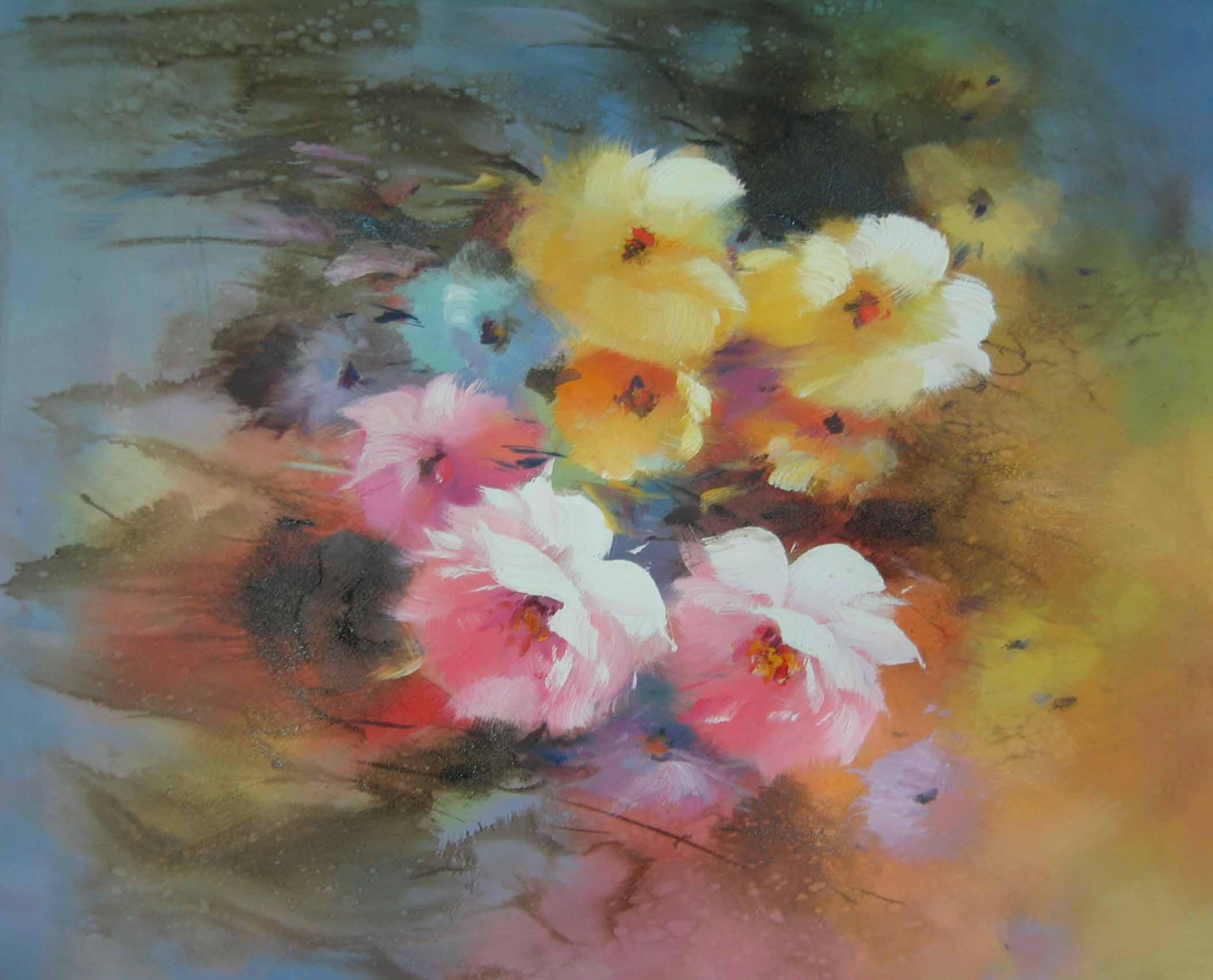 Modern impression pink flowers oil painting high quality hot sales modern impression pink flowers oil painting high quality hot sales completely handmade oil painting home decoration wall art oil painting decorative art mightylinksfo