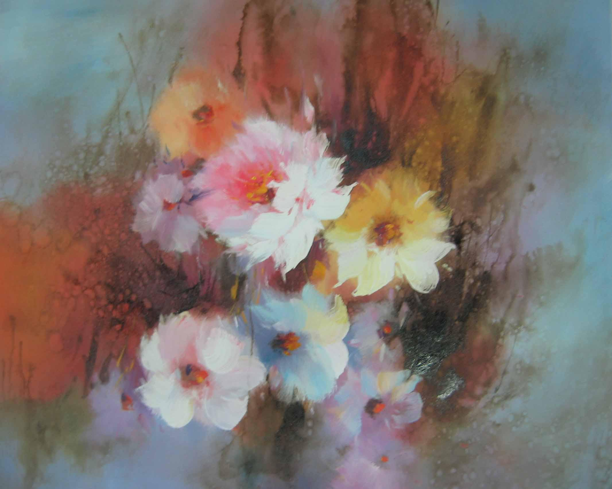Best modern impression pink flowers oil painting high quality hot best modern impression pink flowers oil painting high quality hot sales completely handmade oil painting home decoration wall art on canvas under 784 mightylinksfo