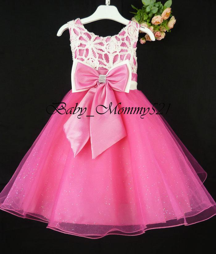 2017 Girls Party Dress Flowergirl Dresses Kids Wedding