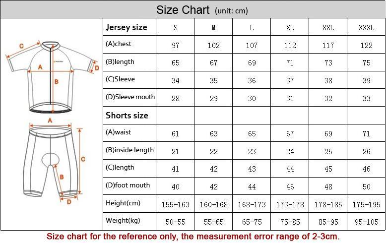 Nouveau jaune noir confortable cyclisme vélo Jersey + shorts vélo S - 3XL