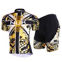 sarı siyah bisiklet formaları toptan satış-Yeni Sarı Siyah Rahat Açık Bisiklet Bisiklet Jersey + şort Bisiklet S - 3XL