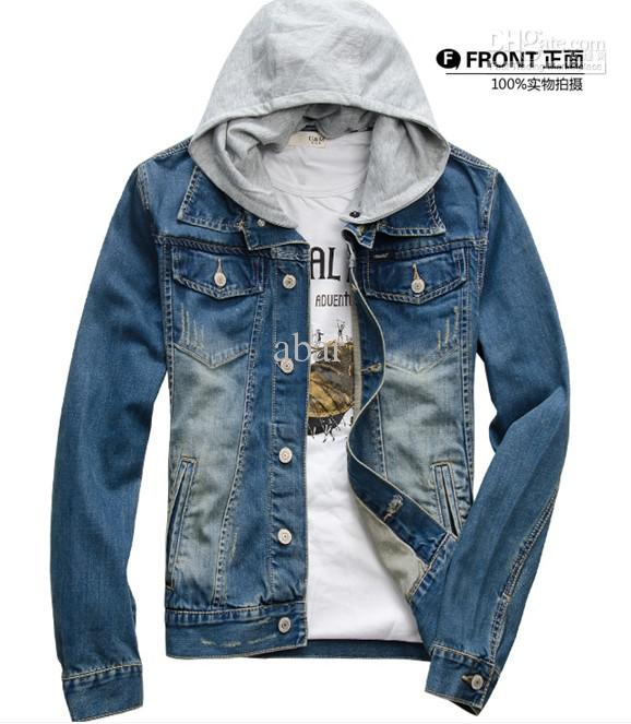 New Mens Jeans Wear Shake Off Hat Denim Adult Wash Jeans Jacket ...
