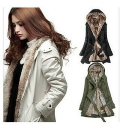 Wholesale Ling Winter Coats - Wholesale - NEW Fur Winter With Faux Fur Ling Women's Coat Outerwear de-unloading liner women trench coats
