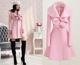 Wholesale Girls Wool Long Coat - Women Coat Parka Fashion Slim Fit Gossip Girl Outwear 2015 New Autumn Winter Coat