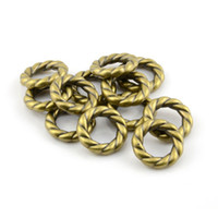Wholesale Scarf Accessories Bronze - 100PCS LOT, Top Fashion DIY Jewellery Necklace Scarf Accessories Antique Bronze Color Spiral Circle Plastic CCB Rings, Free Shipping,AC0060C