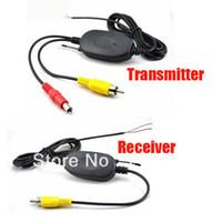 videokits großhandel-Drahtlose 2,4 Ghz RCA Video Sender Empfänger Kit für Car Reavering Kamera Kostenloser Versand