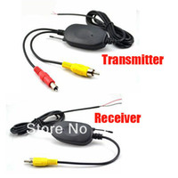 Wholesale Wireless Receiver For Video Camera - Wireless 2.4Ghz RCA Video Transmitter & Receiver Kit for Car Reavering Camera Free Shipping