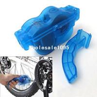 bisiklet zinciri temizleme toptan satış-Bisiklet Bisiklet Zincir Temizleyici Makinesi Fırçalar Scrubber Hızlı Temizlik Aracı