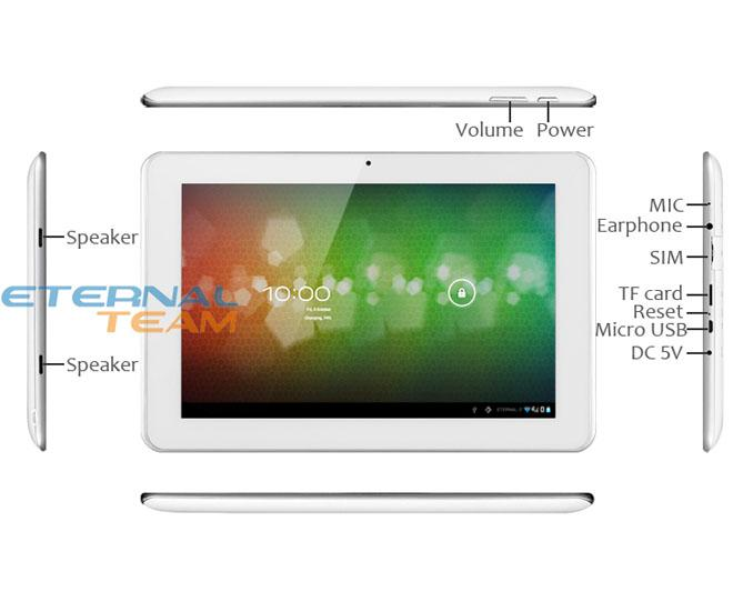 """DHL free dropshipping Sanei N10 3G tablet pc 10"""" IPS 1280x800 multi touch Qualcomm Quad core WCDMA Phone Call with 32gb TF card"""