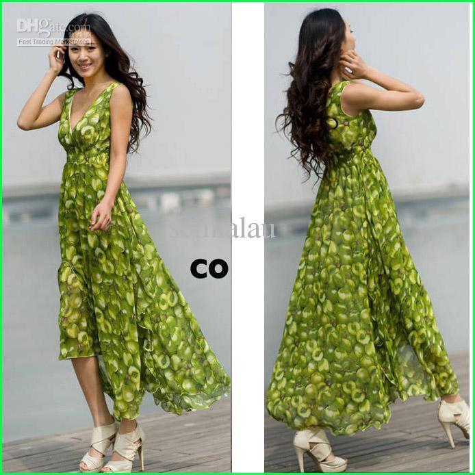 Wholesale Hot Summer Beach Dresses, Women Sexy Sleeveless Dress, V ...