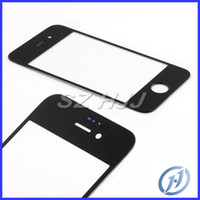 Wholesale Iphone5 Lens Wholesale - for iphone 7 7plus Front Outer Glass Lens For iPhone 4 4S iPhone5 5c SE ip6 6 plus Pre-cut 3M stickers