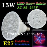 Wholesale Grow Light 168 - E27 15W 133Red:35Blue 168 LEDs Grow Light for Flowering Plant and hydroponics system 110V 220V Free