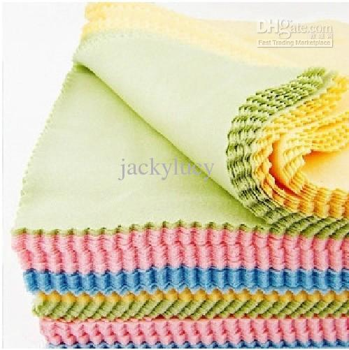 Retailing 14x14cm Colorful microfiber eyewear glasses lens cleaning cloth auto detailing glasses LCD LED TV cleaning cloth