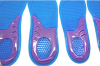 Wholesale Wholesaler Sells Sports Shoes - Free shipping 400pcs=200pairs sport silicone massaging gel shoes insole men size 8-12,women:6-10 hot selling